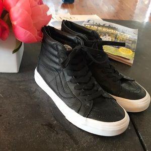 Vans Sk8 all black high top sneakers!